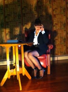 Fetish role play Mistress as CEO or boss bitch