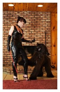 Mistress Nicole of New York wearing leather outfit